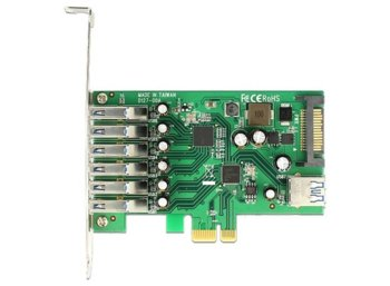 Delock Karta PCI Express -> USB 3.0 6-port + 1x internal USB