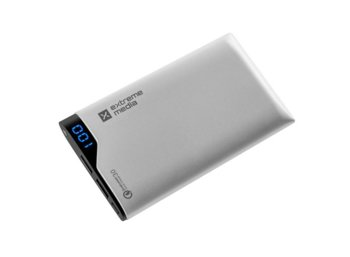 NATEC Power Bank EXTREME MEDIA 6000mAh QC-60 SILVER Qualcomm Quick     Charge 3.0
