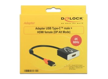 Delock Adapter USB Type-C - HDMI M/F (Thunderbolt 3) czarny