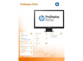 HP Inc. 21,5' ProDisplay P223a Monitor    X7R62AA