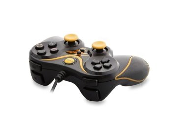 SNOPY SG-301 Black/Yellow USB GAMEPAD PAD DO PC WIBRACJA ANALOG