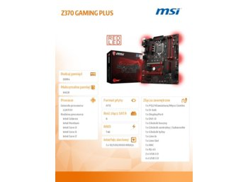 MSI Z370 GAMING PLUS Z370 s1151