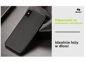 Benks Etui Lollipop dla Apple iPhone X 10 Black